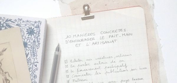 article comment soutenir le fait main IL ETAIT UNE FOIS DIX DOIGTS